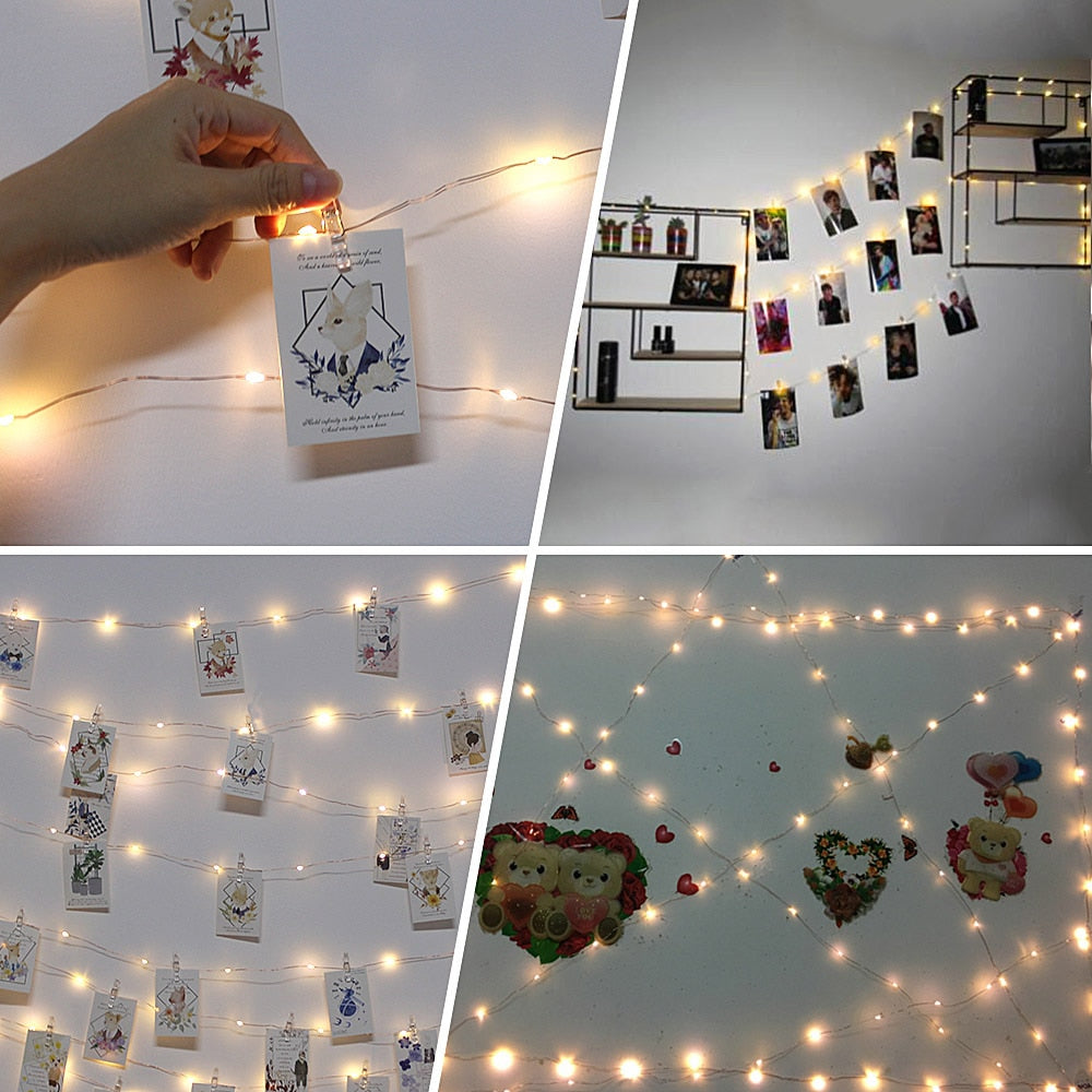 LED Photo Picture Clips String Light