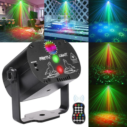 Mini RGB Disco Light DJ LED Laser Stage Projector Red Blue Green Lamp