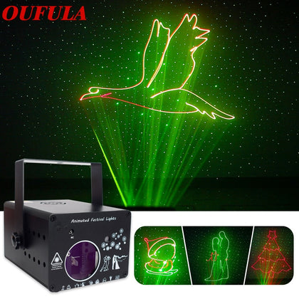 3D Full Color Animation Laser Projection Light
