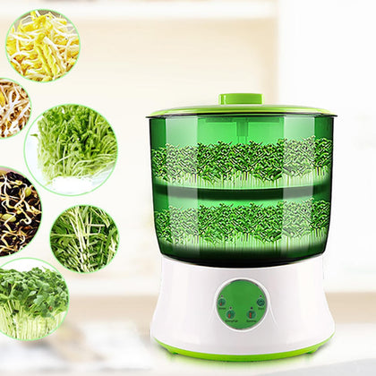 Automatic Electric Germinator Seed Vegetable Seedling Growth Bucket - HomegoPlus