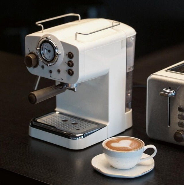15Bar Semiautomatic Italian Steam Type Espresso Coffee Machine
