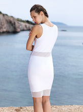 Load image into Gallery viewer, WHITE MESH DRESS
