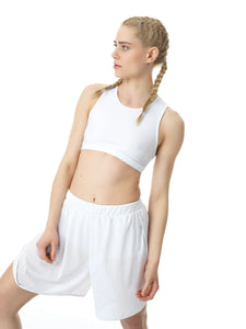 LONG ACTIVE SHORTS - WHITE