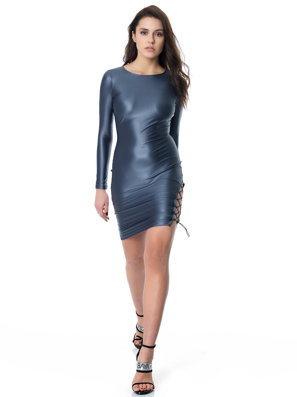 DAZZLE STRIPE DRESS (MOONLIGHT)