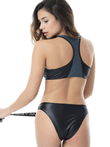 SPORT ZIPPER BIKINI - SET (MOONLIGHT/BLACK)