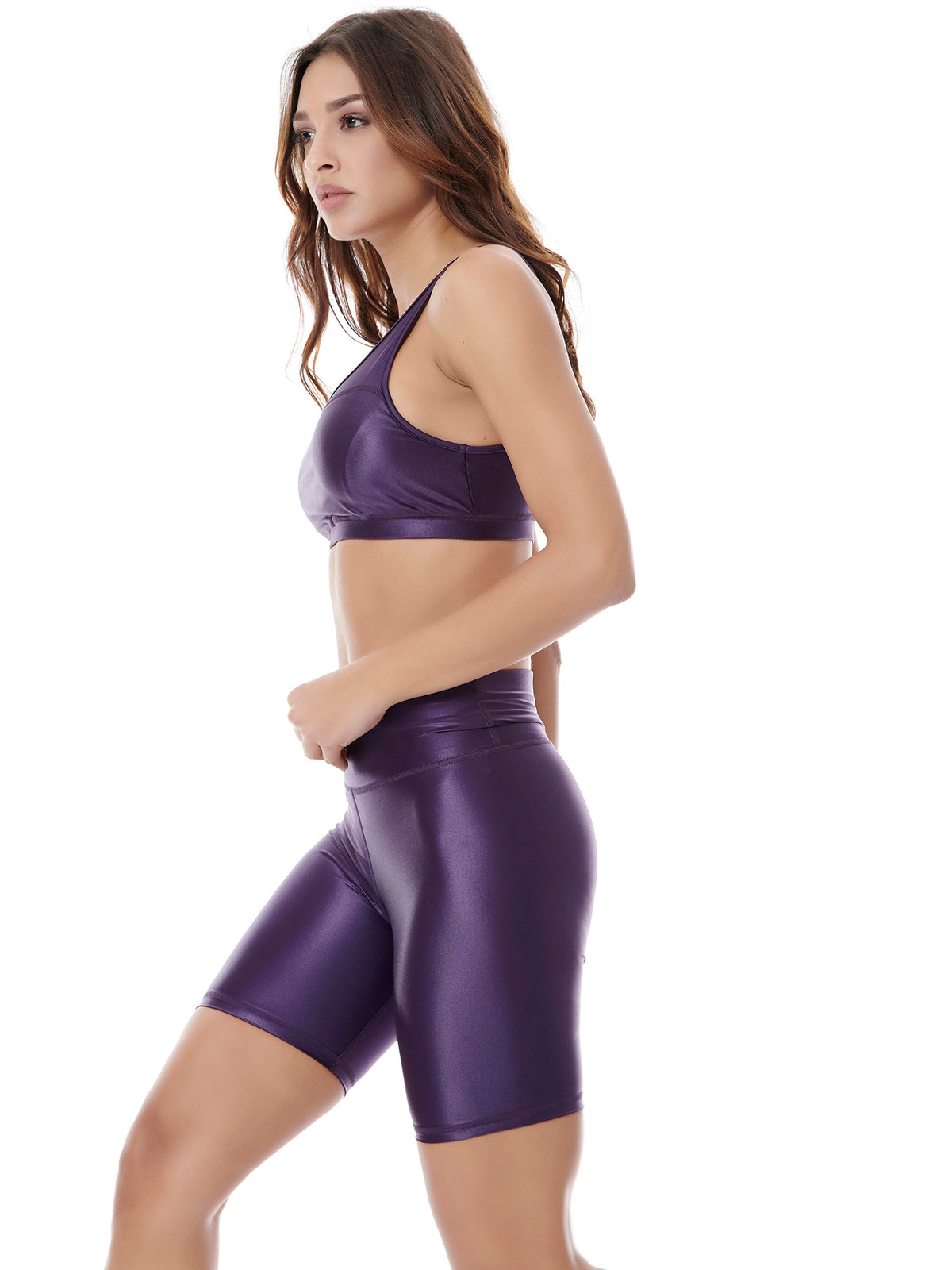 DAZZLE BIKER SHORT - PURPLE