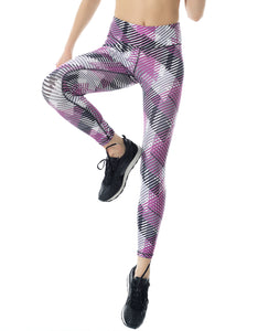 SPORTY MAGENTA DECK POWER PRINT LEGGINGS ****WEB-ONLY****