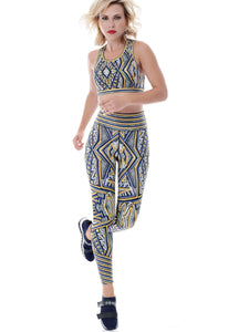 INTERSTELLAR PLACEMENT PRINT LEGGINGS - YELLOW ****WEB-ONLY****