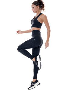 CYBER RACER SET (LEGGINGS & TOP) - BLACK