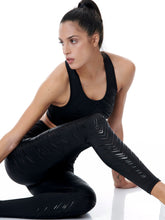 Load image into Gallery viewer, BAYA ROMBUS SET - BLACK (LEGGINGS & TOP)