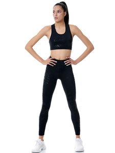 BAYA ROMBUS SET - BLACK (LEGGINGS & TOP)