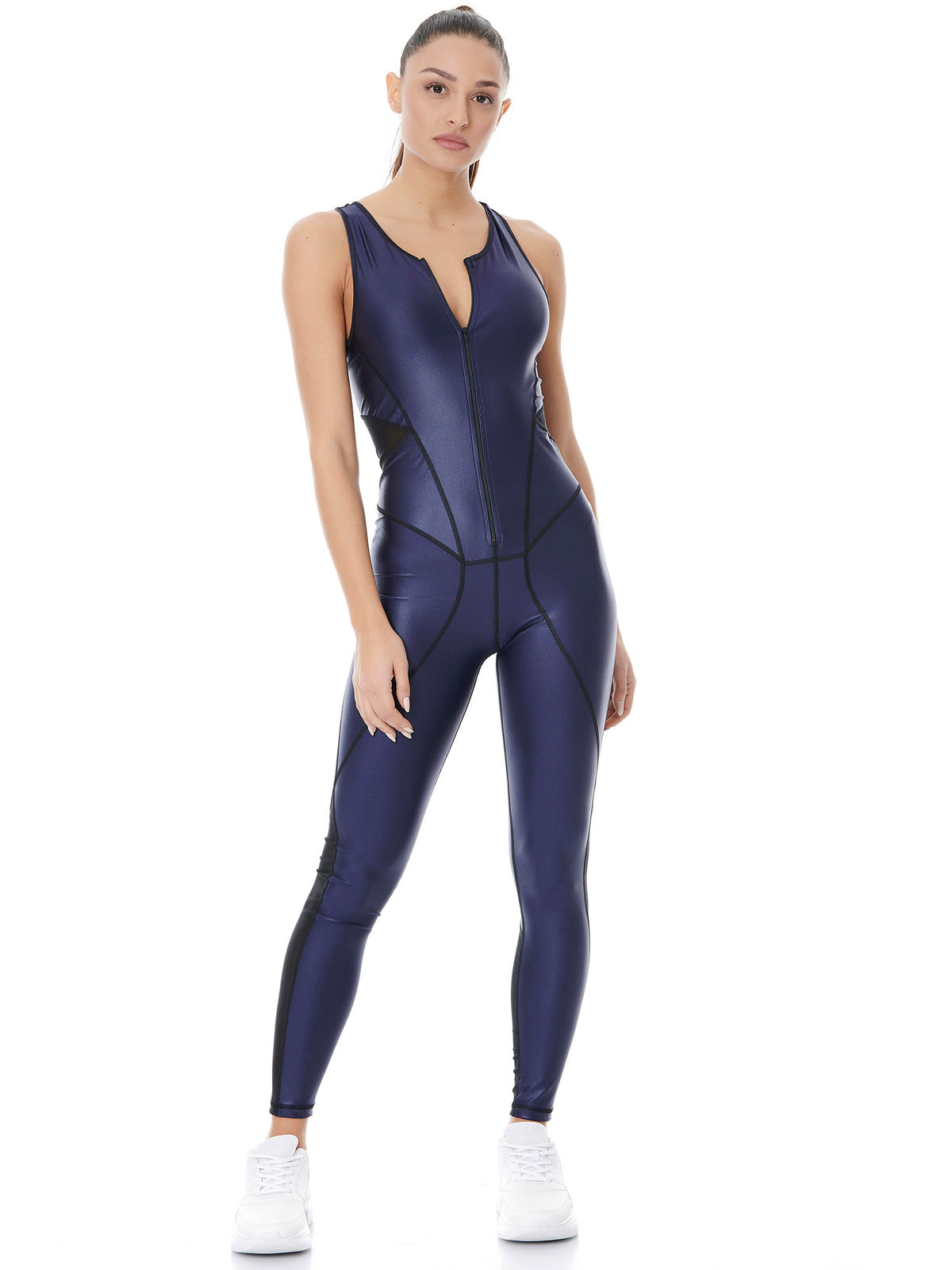 DAZZLE HIGH POWER JUMPSUIT - NIGHT BLUE