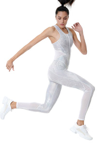 WILD SHINE POWER JUMPSUIT - WHITE