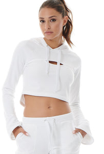 COOL-DOWN CROPPED SWEATER - WHIT