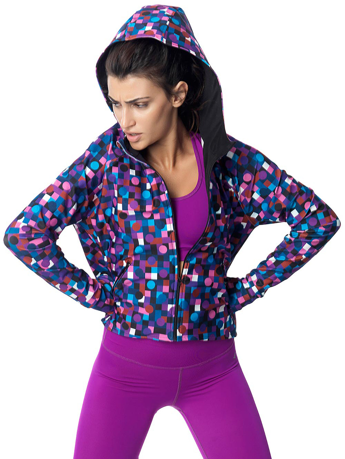 DOTS ACTIVE JACKET - MAGENTA