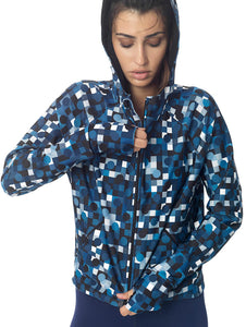 DOTS ACTIVE JACKET - BLUE