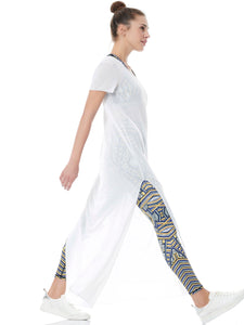 SPORT LIGHTWEIGHT TSHIRT DRESS LONG - WHITE