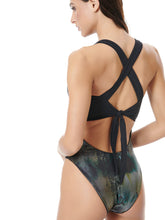 Load image into Gallery viewer, WILD SHINE DOUBLE SWIMSUIT - BLACK