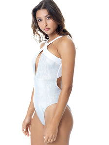 WILD SHINE DOUBLE SWIMSUIT - SILVER