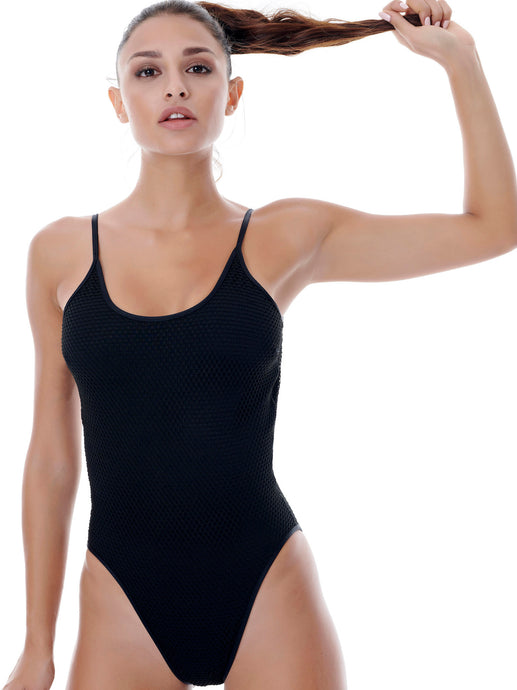 STARGAZER SWIMSUIT - BLACK/BLACK