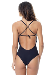 WATERMARK DOUBLE PRINTED SWIMSUIT (X BACK)