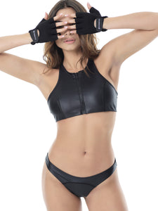 SPORT ZIPPER BIKINI - SET (BLACK/BLACK)