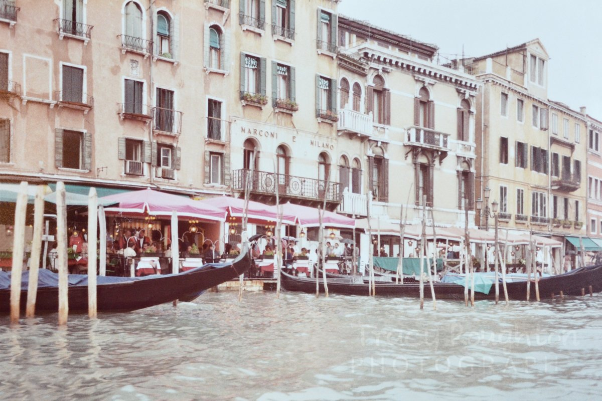 Vintage Venice Italy 1980s canals and gondolas print