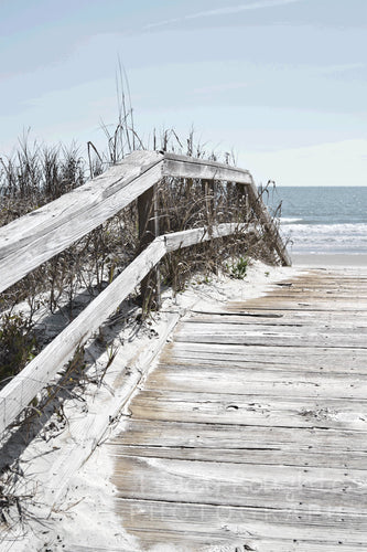 Beach boardwalk in Myrtle Beach print
