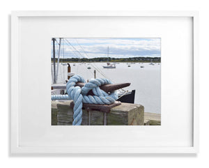 Cape Cod blue knotted rope print