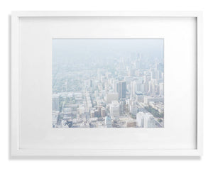 Horizontal city skyline from above - Toronto 2002 from the CN tower print