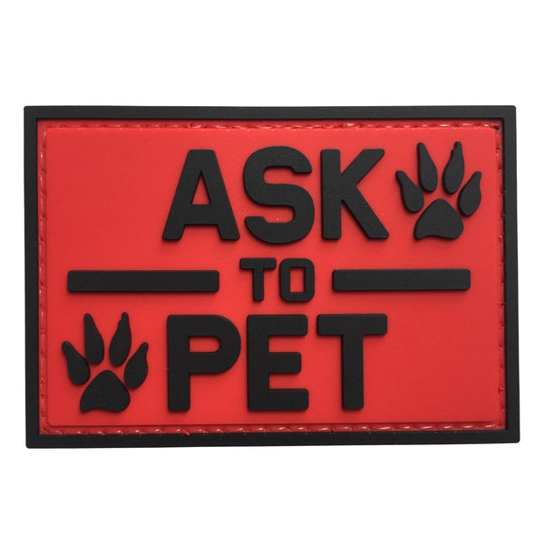 ASK TO PET - Red - PVC Patch - Large