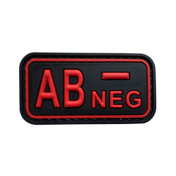 AB NEG - Red - PVC Patch - Small