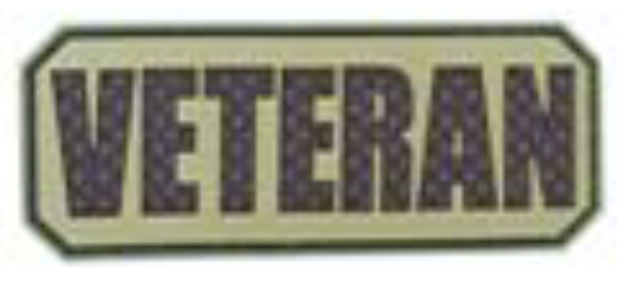 Veteran Tab - Brown - PVC Patch - Small