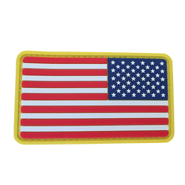 US Flag Reverse - Full Color - PVC Patch - Large