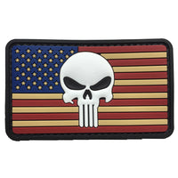 US Flag with Punisher - PVC Patch - Large
