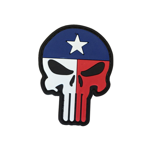 Punisher Texas Flag - PVC Patch - Large