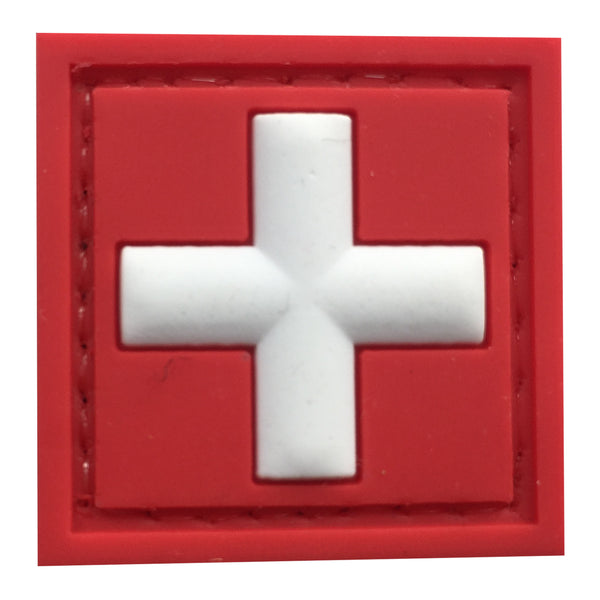 Cross Medic - Red and White - PVC Patch - Small