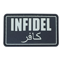 INFIDEL - Black - PVC Patch - Small