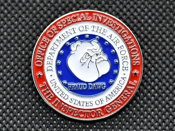 AFOSI Fraud Dawg Circular Lapel Pin