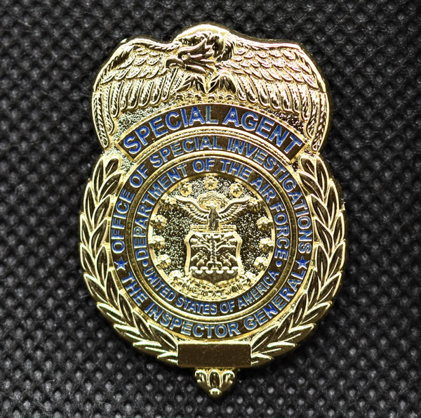 AFOSI Badge - Gold Lapel Pin (Shiny)