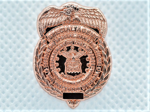 "AFOSI 1"" Mini Badge - Gold Lapel Pin (Subdued)"