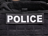 "Reflective Plate Carrier Patch (1-3/4""x6-1/2"") - POLICE"