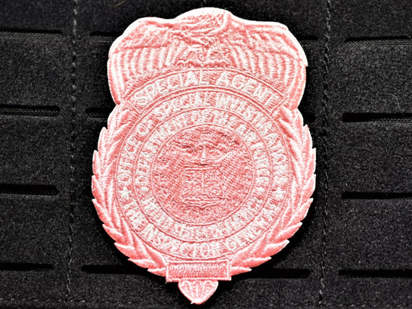 Pink OSI Badge Patch (Velcro Backed)