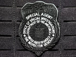 Tactical Black OSI Badge Patch (Velcro Backed)