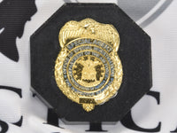 CLEARANCE - OSI Badge Black Background Hex Paperweight