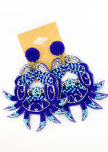 Load image into Gallery viewer, Beaded Crab Earrings