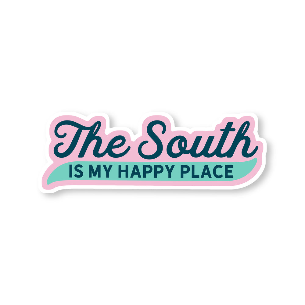 The South Is My Happy Place Sticker - Good Southerner