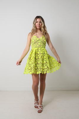 Azealea Mini Dress - Lime