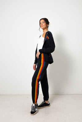 5 Stripe Sweatpants - Charcoal