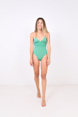 One Piece Swimsuit - Green
